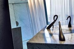 The bathroom at P. Starcks restaurant Felix. Photo: Karsten Damstedt